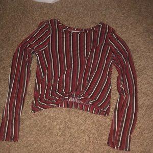 Long sleep striped shirt